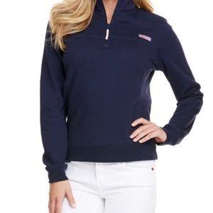 Vineyard Vine Girl or Boy Half Zipper Blue Sweater